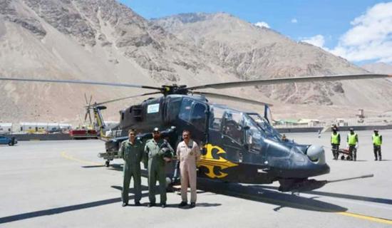 印军在拉达克地区部署LCH