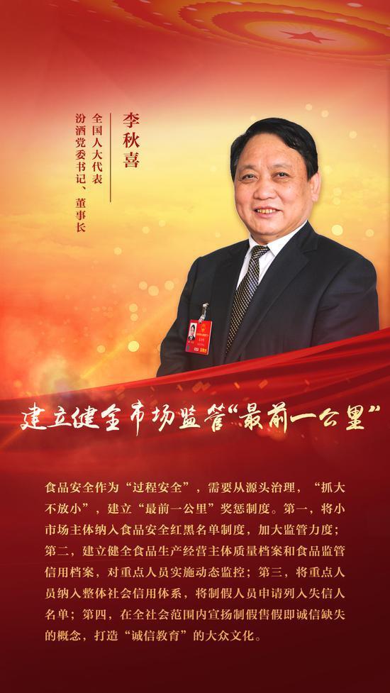 全国人大代表李秋喜:打造国企改革样本,完善白酒业标准