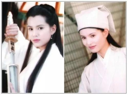 李若彤 1995《神雕侠侣》饰小龙女;1997《天龙八部》饰王语嫣。来源:金鹰网