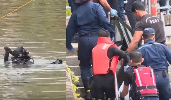 去年7月10日,新警方在新加坡河捞出一具男性遗体。(图源:英国《独立报》)