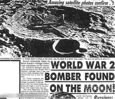1988年4月5日《世界新闻周刊》刊登的月背有外星人的假新闻
