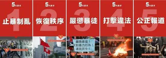 """▲图为""""帝吧网友""""和""""饭圈女孩""""制作的揭批香港极端分子的海报"""