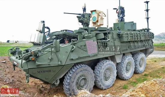"""▲""""斯特赖克""""MEHEL自行防空激光炮就代表了美军防空的未来发展方向。"""