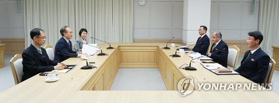 去年12月,韩朝举行卫生合作小组会谈。(韩联社)