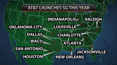 AT&T 移动5G网首批试点12座城市