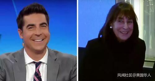 Jesse Watters和他的妈妈。(图片来自Fox News截屏)