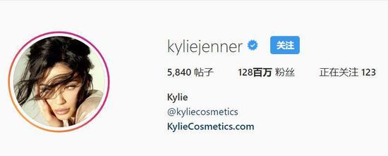 ▲Kylie的ins粉丝以达1.28亿!真是个多到可怕的数字