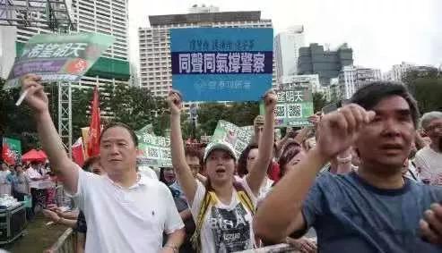 """香港""""沉默的大多数"""" 向暴力说""""不"""""""