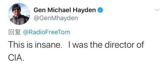▲迈克尔·海登推特截图