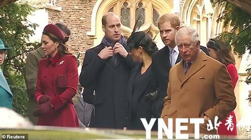 威廉王子和梅根不和?英媒捕捉这一细微场景
