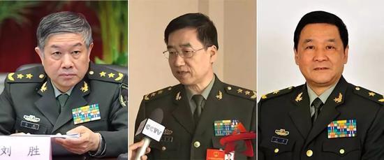 △ 刘胜、张育林、王力 图自澎湃新闻