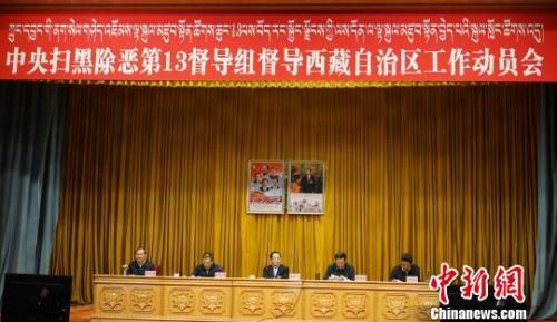 11日,中央扫黑除恶第13督导组督导西藏自治区工作动员会在拉萨召开。 张伟 摄