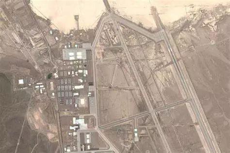 """▲美国空军""""51区""""基地卫星照片"""