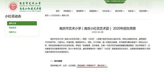 南京市艺术幼学一年级2020年招生简章的截图