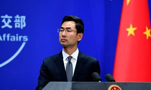 2019年4月4日外交部发言人耿爽主持例行记者会。
