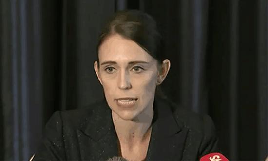 新西兰总理发表简短讲话,来自《卫报》
