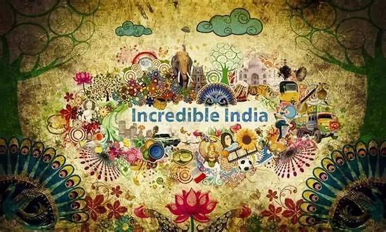 """印度国家旅游宣传语为""""不可思议的印度""""(Incredible India)"""