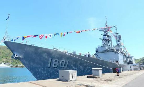 """""""基隆""""级驱逐舰暗示图。来源:台湾《解放时报。》"""