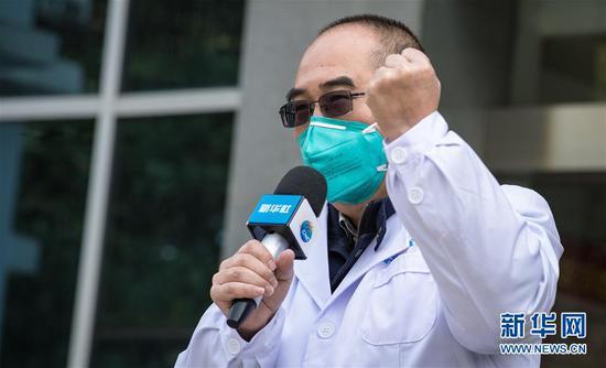 这是武汉金银潭医院院长张定宇(1月29日摄)。 新华社记者 肖艺九 摄