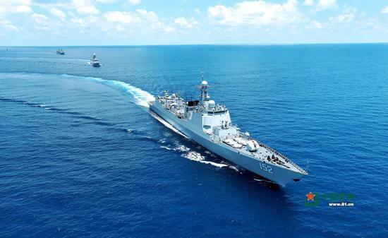 亚丁湾护航。代宗锋 摄