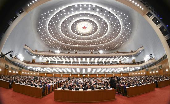 十三届全国人大二次会议现场。