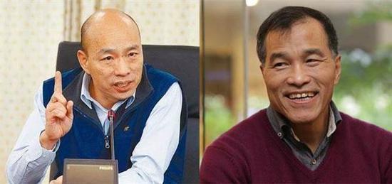 """高雄市长韩国瑜(左)和高雄副市长叶匡时(右)。(图片来源:台湾""""中时电子报"""")"""
