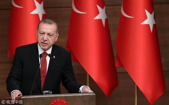 土耳其总统埃尔众安 (图:视觉中国)