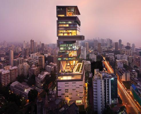 印度始富27层豪宅(图:《每日邮报》)