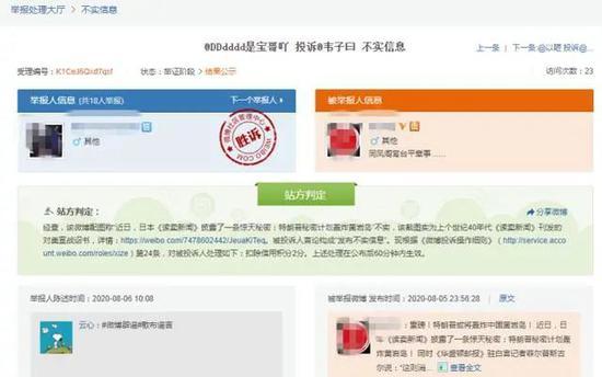 微博社区管理中心页面截图