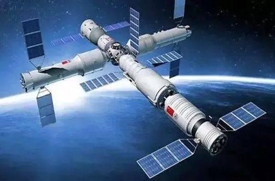 ▲天宫空间站想象图