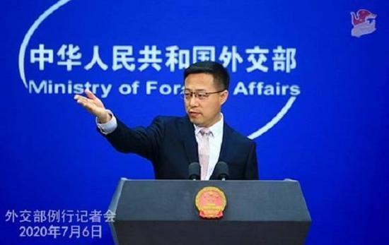 图片说明:7月6日,外交部发言人赵立坚主持例行记者会。(来源:中华人民共和国外交部)