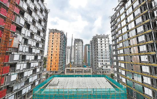 北京冬奥村人才公租房即将封顶封围