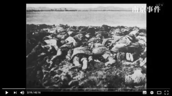 日本电视台《南京事件》纪录片的视频截图。