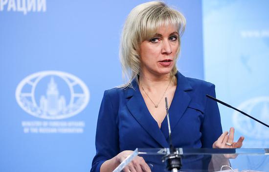 俄罗斯外交部发言人扎哈罗娃。(图:塔斯社)