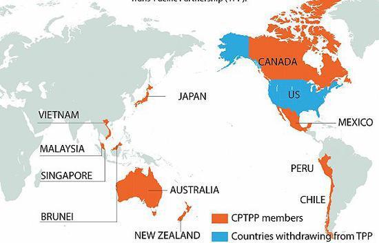 11国成员地图。图片来源:网络
