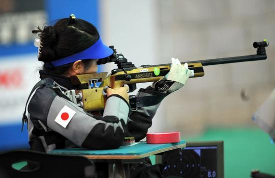 在亚运会上异国取得一枚金牌的步枪射击项现在倍感危险。新华社记者聂建江摄