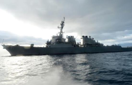 美国海军导弹驱逐舰(图源:路透社)