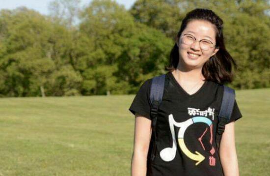 中国访问学者章莹颖。(图源:美联社)