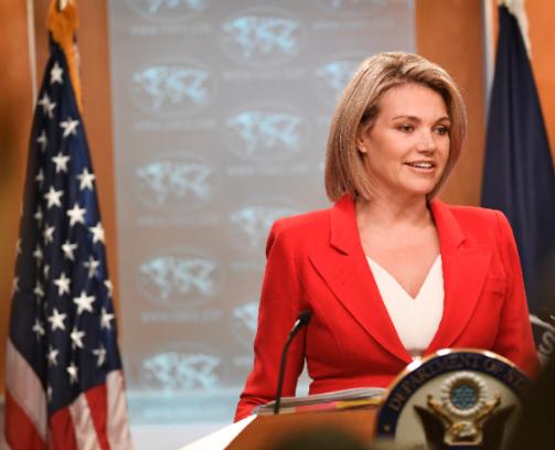 10月2日,诺尔特在华盛顿出席音信发布会。(新华社记者刘杰摄)