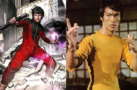 """图说:""""Shang-Chi""""和李小龙(右)"""