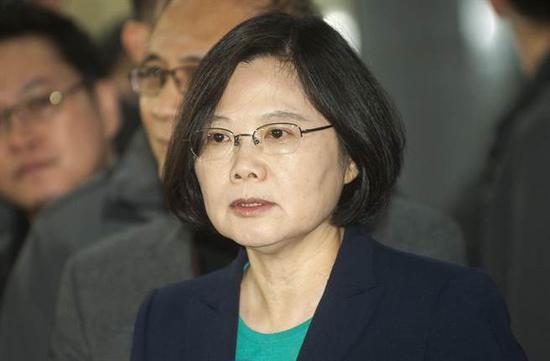 """蔡英文(图片来源:台湾""""中时电子报"""")"""