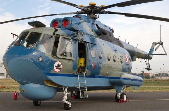 原料图片:米-14PL水陆两用直升机。(图片来源于网络)