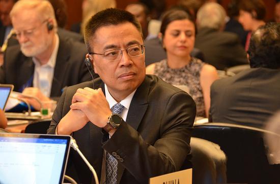 7月26日,张向晨大使在WTO总理事会发言批驳美国对中国经济形式的责备。(图片源自商务部网站)