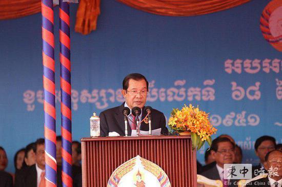 柬埔寨首相洪森 图《柬中时报》