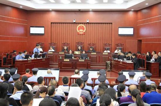 庭审现场。本文图片益阳市中级人民法院