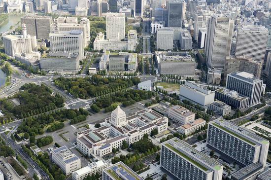 日本霞关官厅街(共同社)