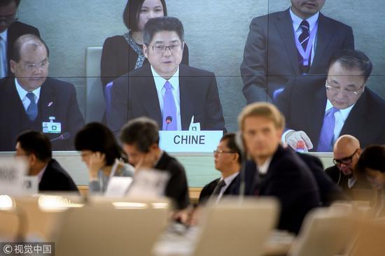 11月6日,外交部副部长乐玉成率代表团出席会议(图片来源:视觉中国)