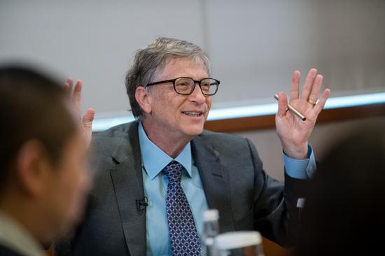 比爾·蓋茨接受澎湃新聞采訪 本文圖片 澎湃新聞記者 于瀟清 圖