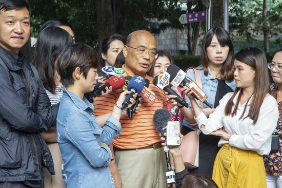 民进党新北市长候选人苏贞昌(来源:台湾《联合报》)