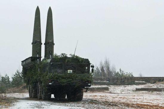"""图为俄罗斯""""伊斯坎德尔""""导弹"""